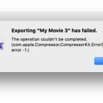 com.apple.Compressor.CompressorKit.ErrorDomain error -1. Message