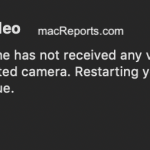 Mac No Video Error