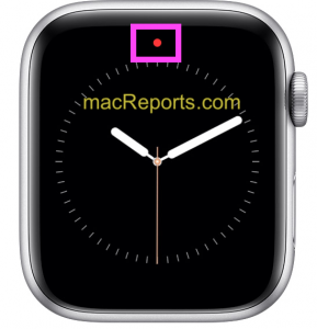 Red Dot on Apple Watch