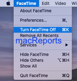 Turn FaceTime off on Mac