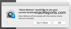 Voice Memos Location