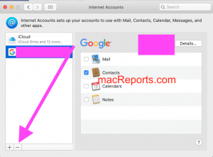 Delete account on Mac