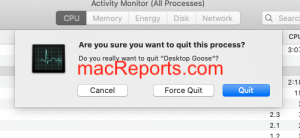 Force Quit Desktop Goose