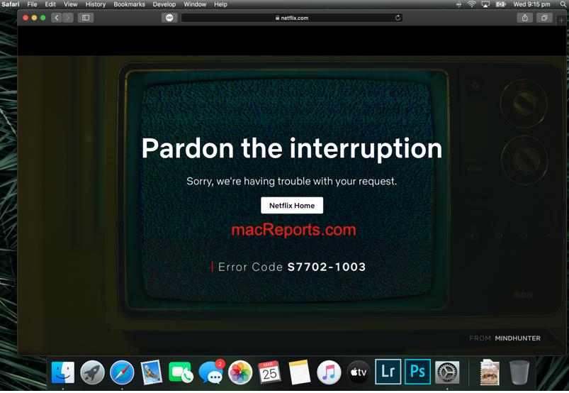 Netflix Safari Problems