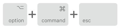 Command Option Esc
