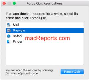 Control Alt Delete on Mac