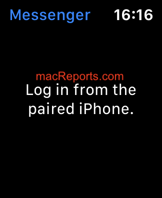 Log in from the paired iPhone