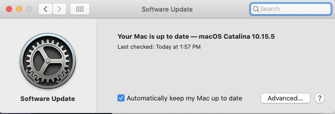 macOS Software Update