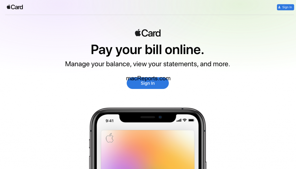 Apple Card Web Site