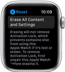 Erase your Apple Watch
