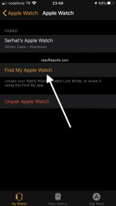 Find My Apple Watch