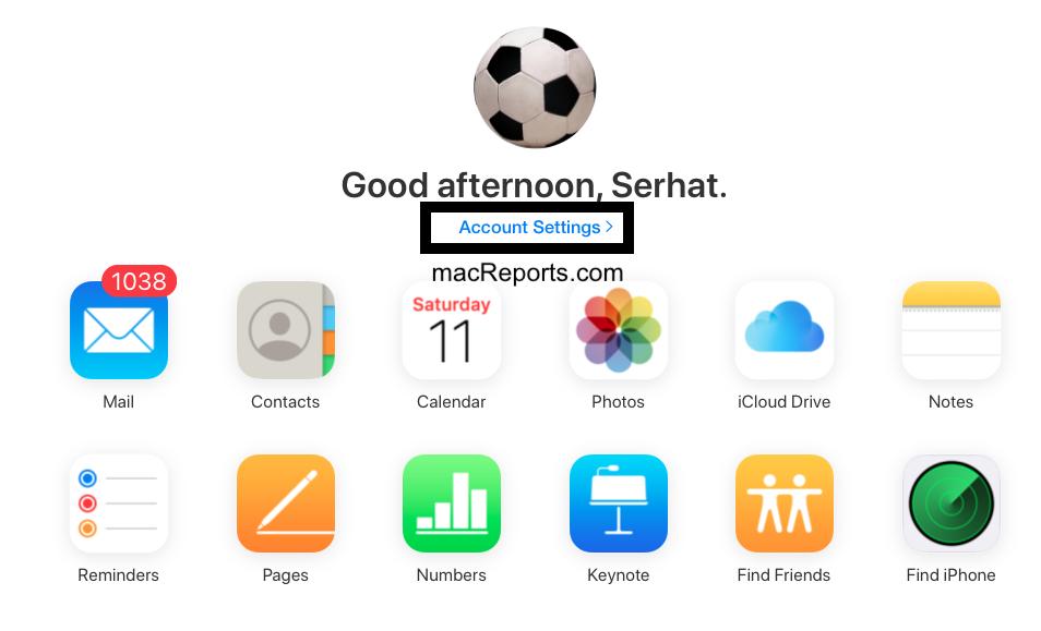 iCloud Account Settings