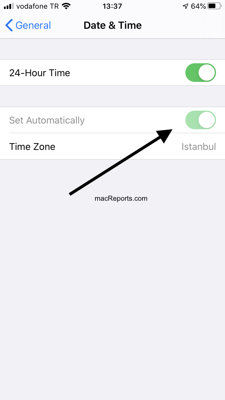 Set Automatically Grayed Out In Date Time Settings On Iphone Or Ipad Macreports