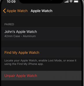 Apple Watch Unpair