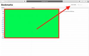 Create bookmark folder