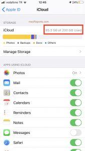 iCloud Storage Plan.