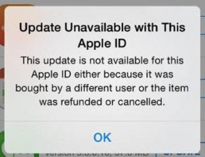 iOS Update Unavailable