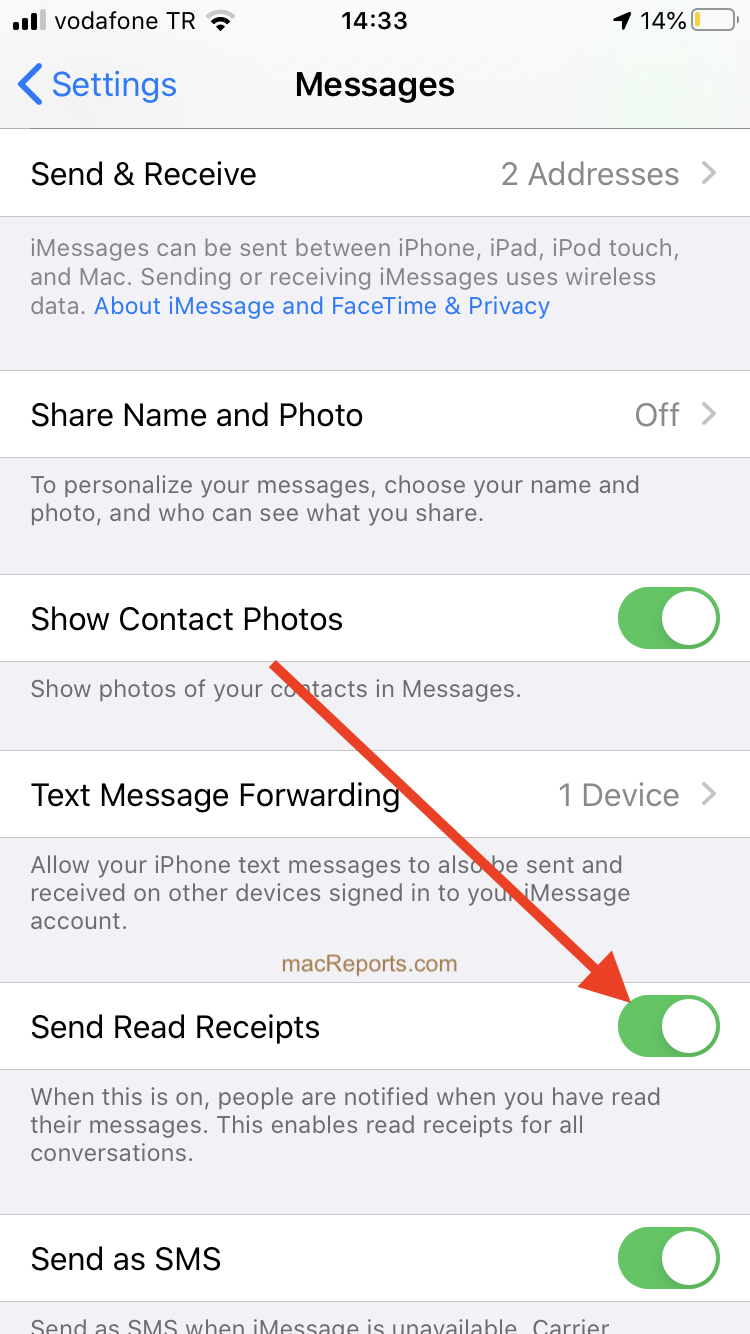 Imessage Read Receipts How To Enable Or Disable On Iphone Ipad And Mac Macreports