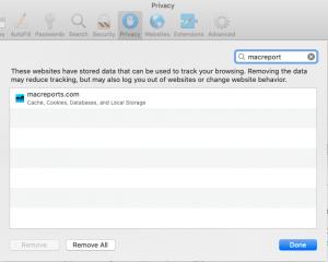 Safari Remove Website Data