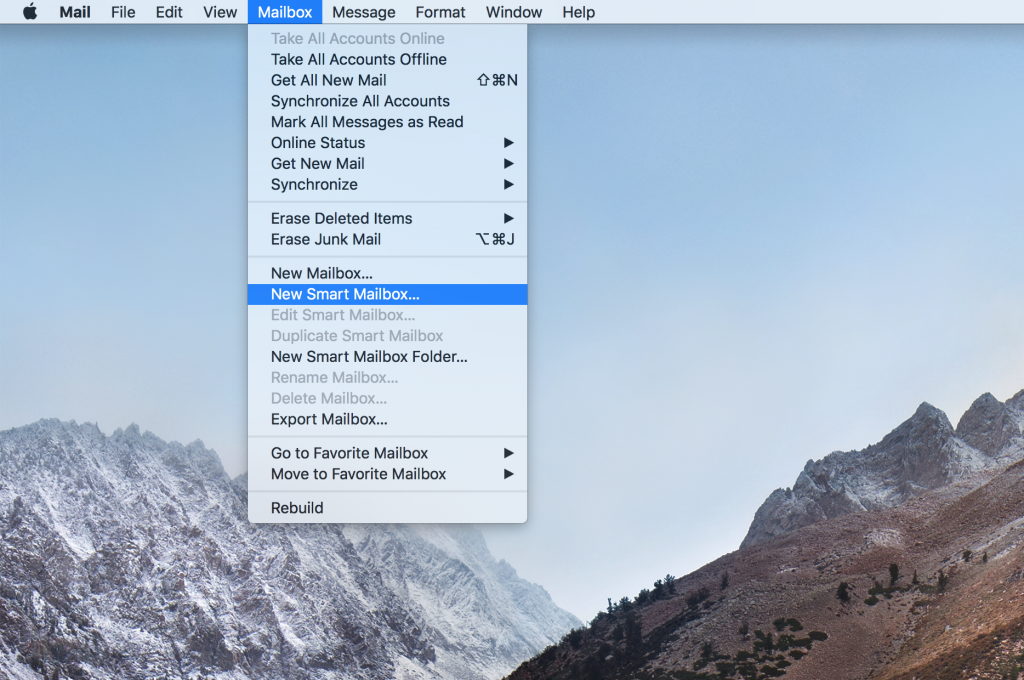 Mailbox > New Smart Mailbox