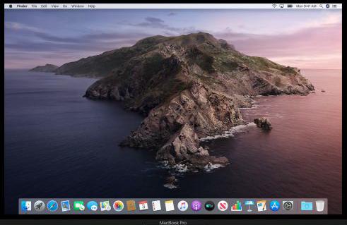 Mac Desktop Empty