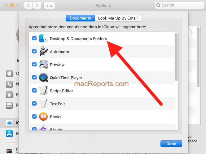 Desktop and Folders iCloud Drive