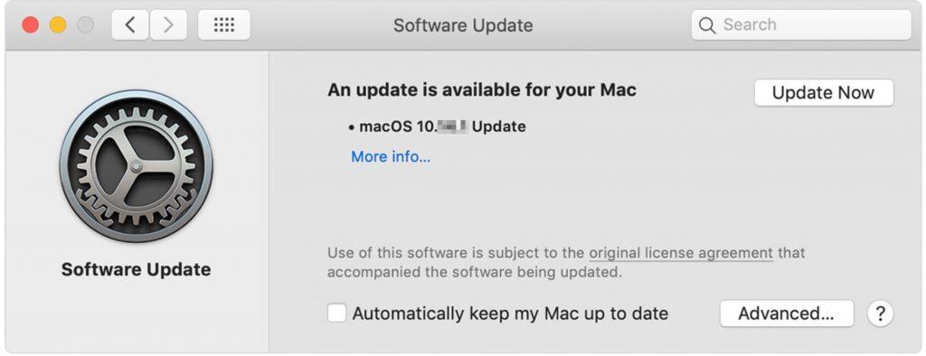 update now