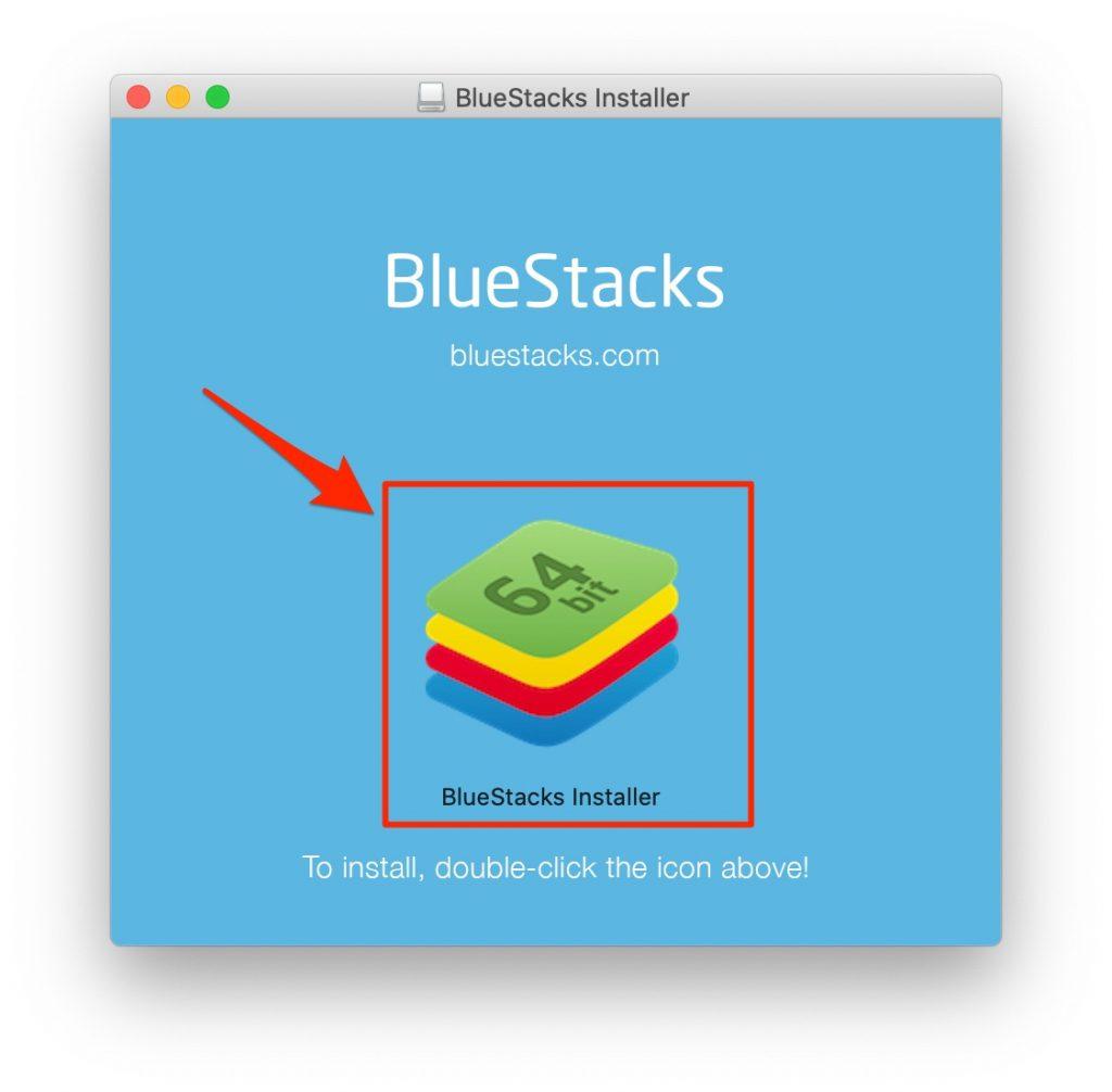 double-click installer icon