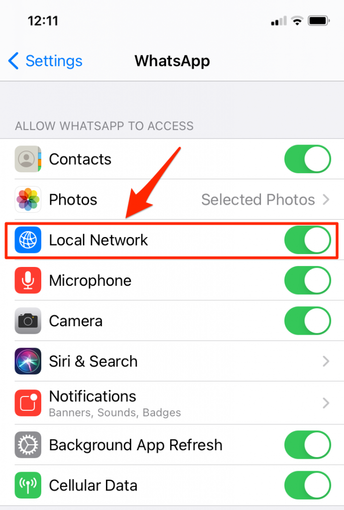 Local Network in WhatsApp