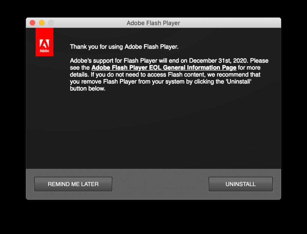 flash player pop up window