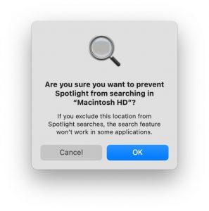 ok to prevent search