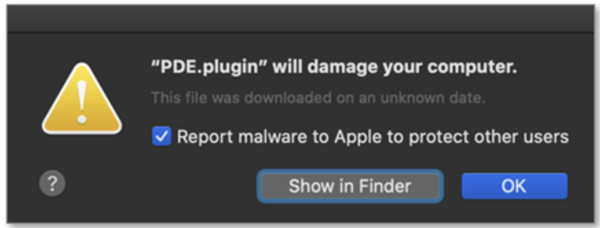 """PDE.plugin"" Will Damage Your Computer"