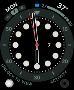 watch face with lock icon