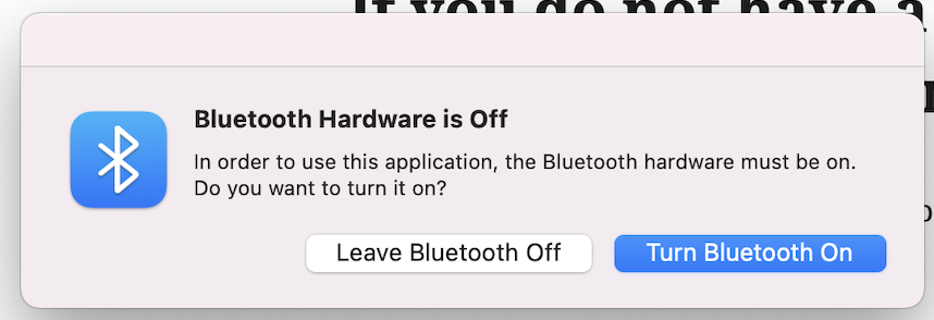 Bluetooth Hardware is Off