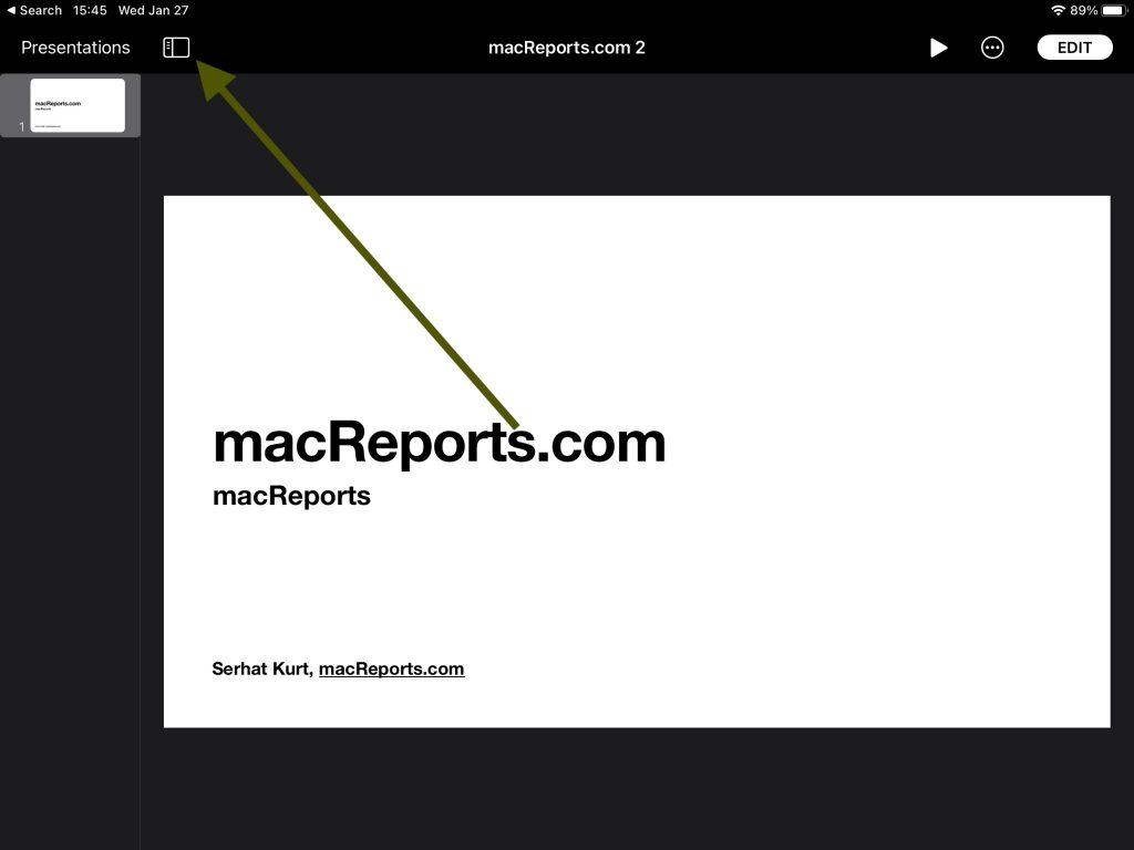 iPad Keynote Notes