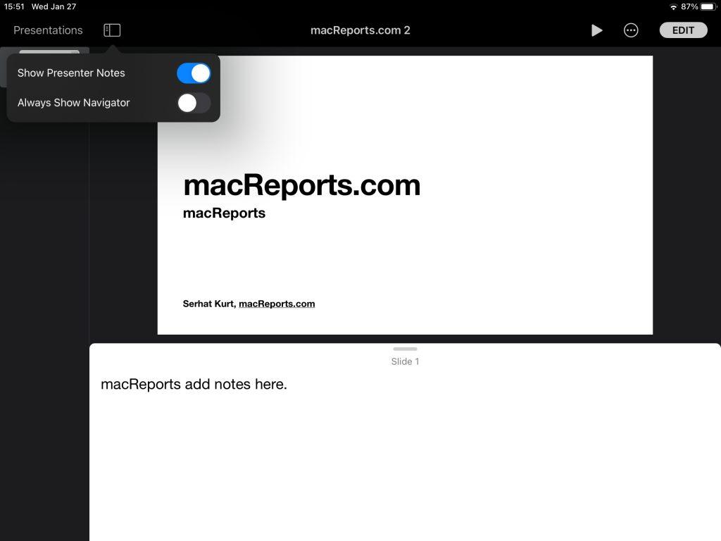 iPad add notes