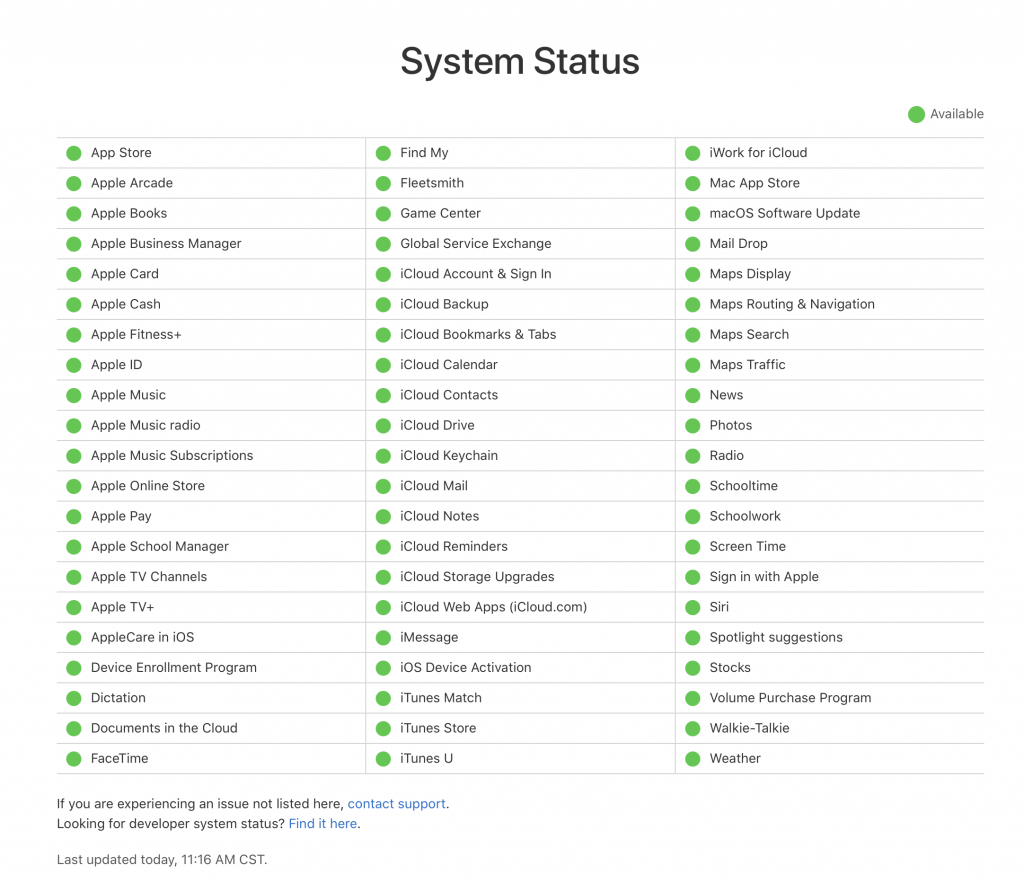 Screen Time System Status