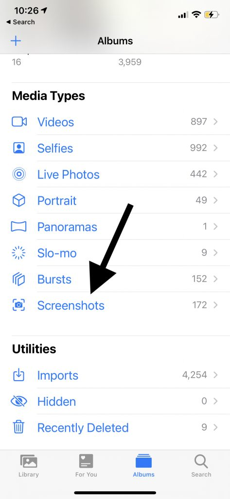 Photos Screenshot folder
