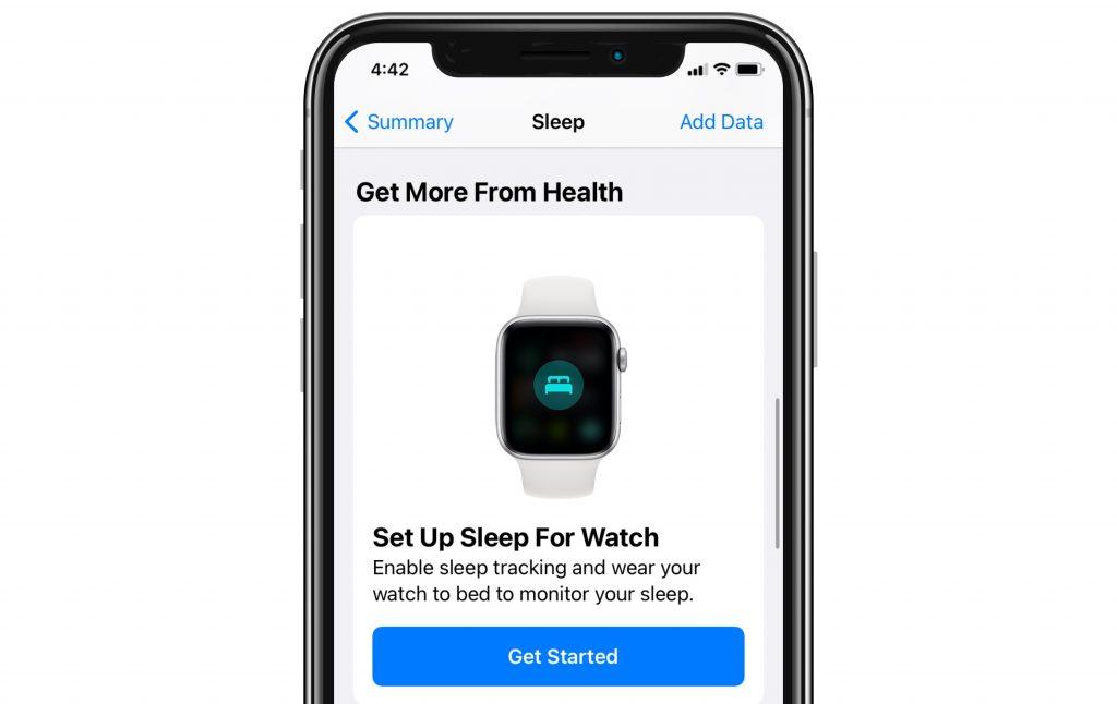set up sleep on Apple Watch