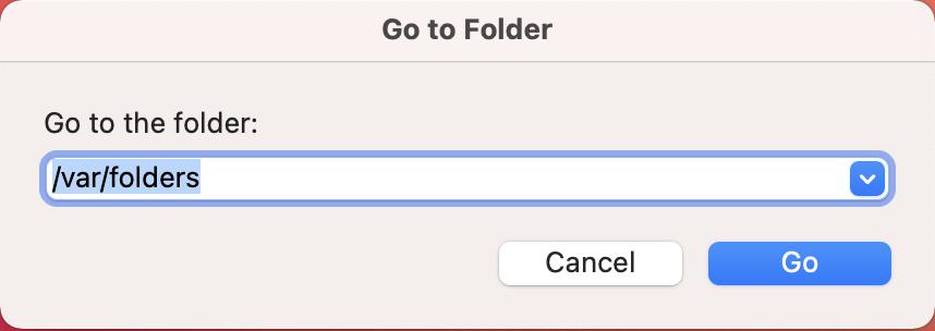 Go to Var Folder