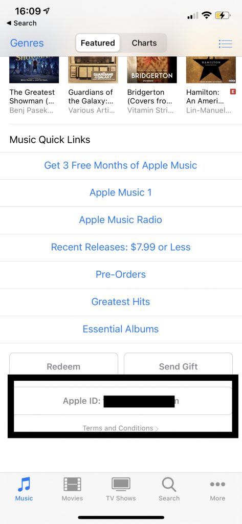 iTunes Store Sign Out and Sign In