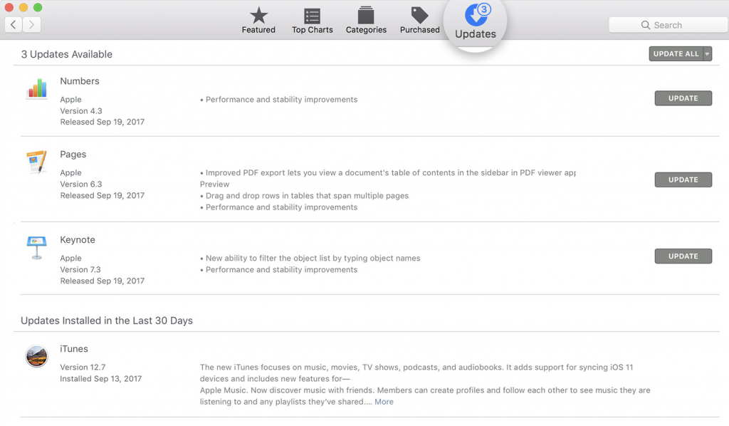 Mac iTunes Update
