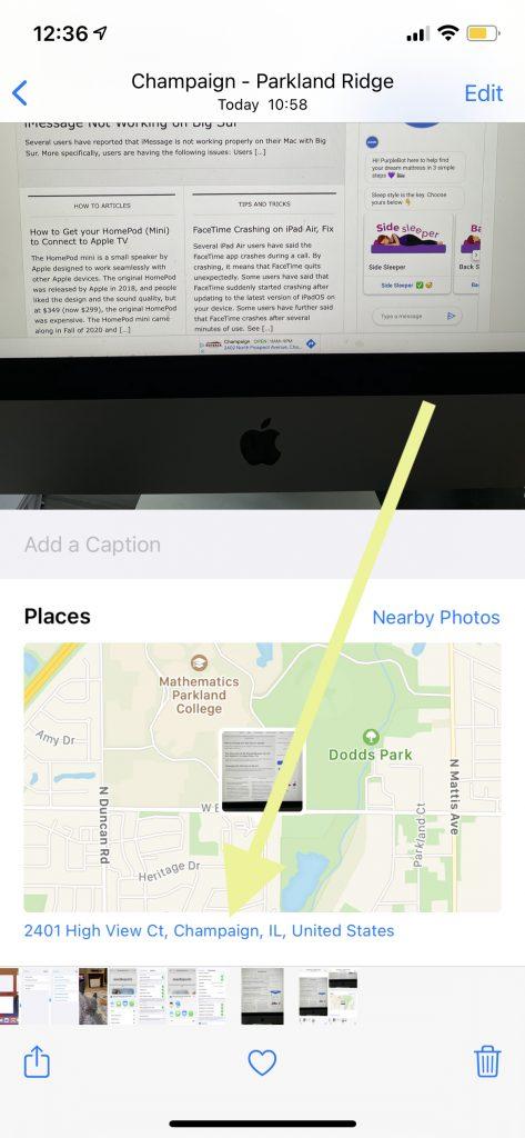 Map address
