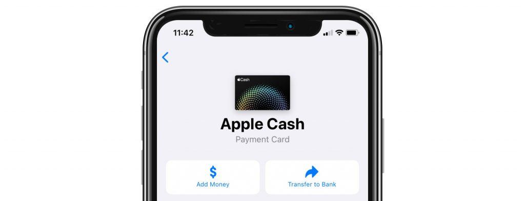 Apple Cash card in Wallet