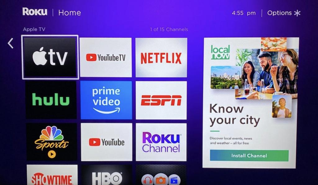 Roku Apple TV app
