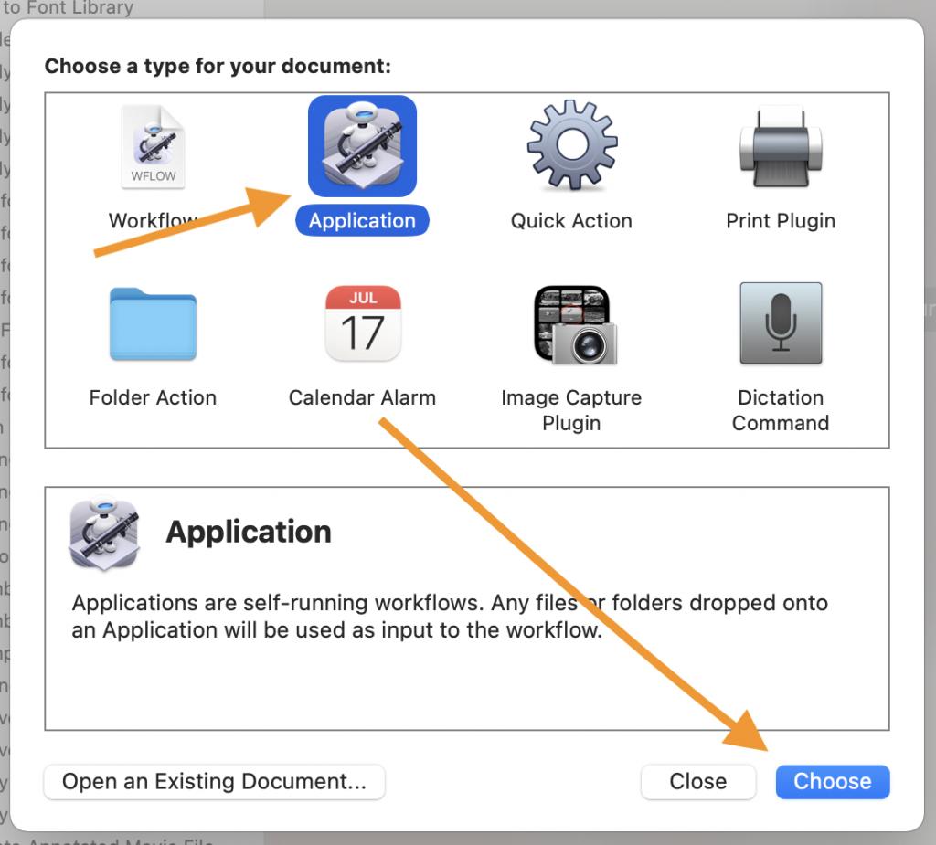 Application > Automator