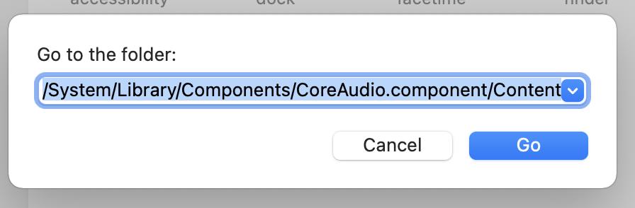 System sounds folder