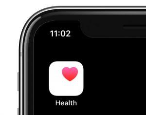 health app icon on iPhone