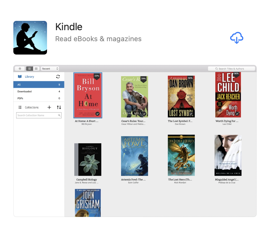 Kindle app for Mac