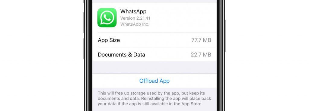 offload WhatsApp